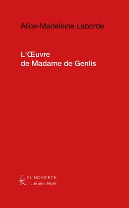 L'Œuvre de Madame de Genlis