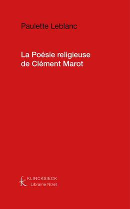 La Poésie religieuse de Clément Marot