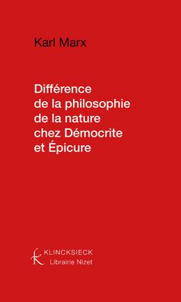 Différence de la philosophie de la nature chez Démocrite et Épicure