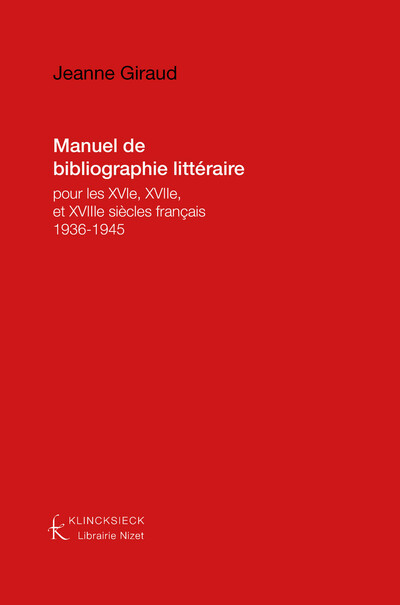 Manuel de bibliographie littéraire