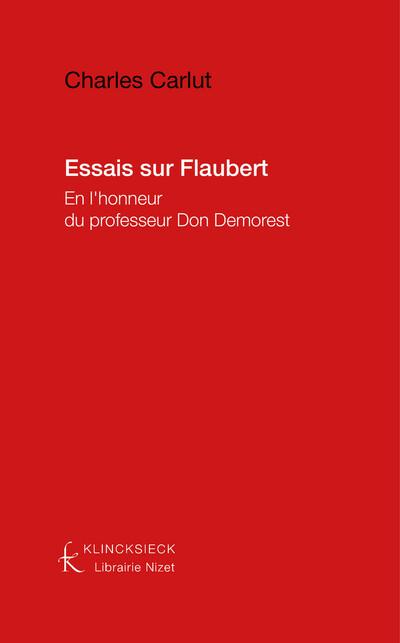Essais sur Flaubert
