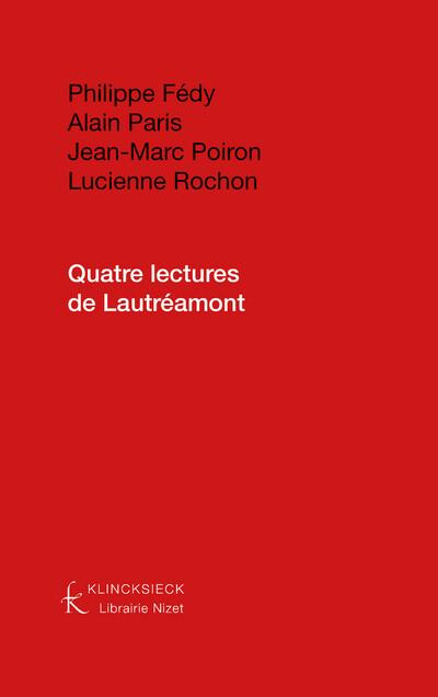 Quatre lectures de Lautréamont