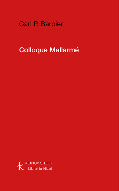 Colloque Mallarmé (Glasgow, novembre 1973)